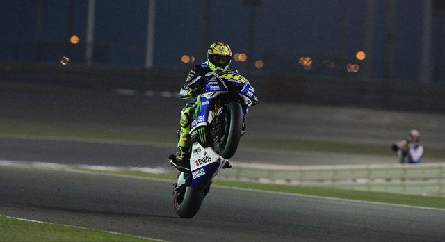 Многократный чемпион мира в классе MotoGP Валентино Росси, выступающий за Movistar Yamaha MotoGP