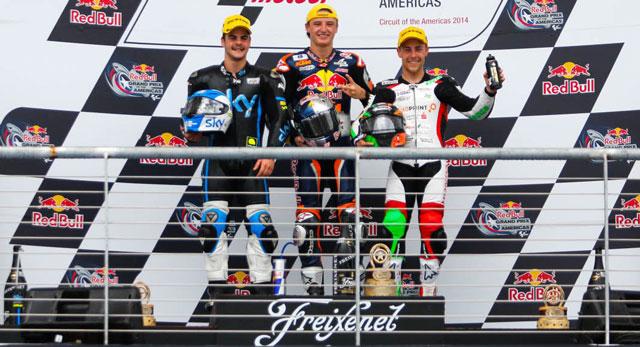 Подиум Moto3 Гран-При Америк 2014