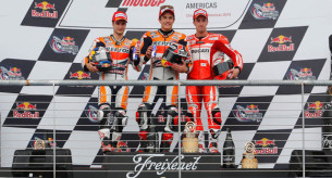Подиум гонки MotoGP Гран-При Америк 2014