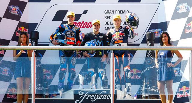 Подиум гонки Moto3 Гран-При Америк 2014