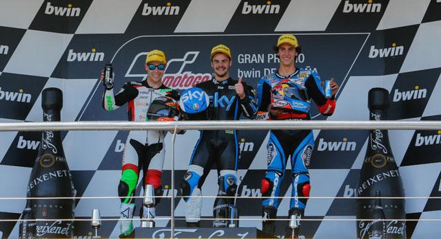 Подиум Moto3 Гран-При Испании 2014