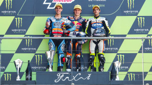 Подиум Moto3 Гран-При Франции 2014