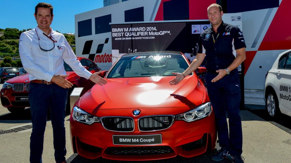 BMW M4 купе лучшему квалифайеру MotoGP 2014 года