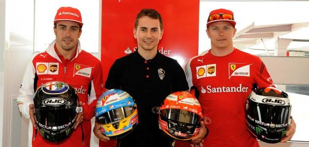Хорхе Лоренцо посетил боксы Ferrari на Гран-При Испании
