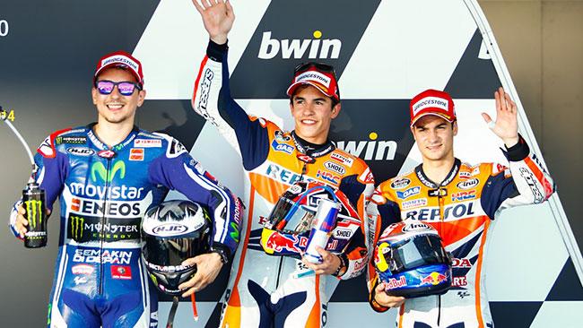 Хорхе Лоренцо, Марк Маркес, Дани Педроса, MotoGP 2014