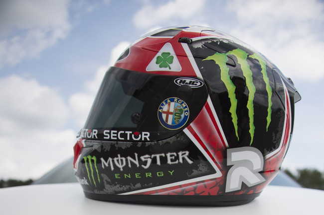 Хорхе Лоренцо представил свой новый шлем Quadrifoglio Verde