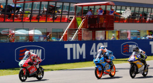 Финиш Moto3 Гран-При Италии 2014: Фенати, Ринс, Виньялес