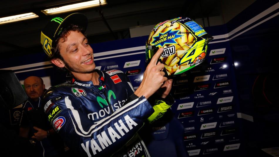 Валентино Росси представил шлем для Гран-При Италии