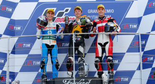 Подиум Moto2 Гран-При Италии 2014: Салом, Рабат, Фолгер