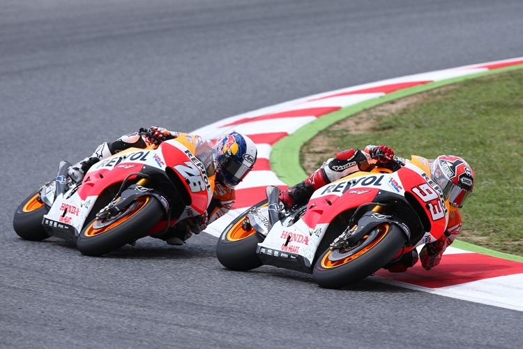 Дани Педроса и Марк Маркес, пилоты Repsol Honda Team, MotoGP 2014