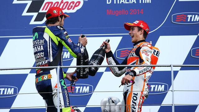 Валентино Росси и Марк Маркес, MotoGP 2014