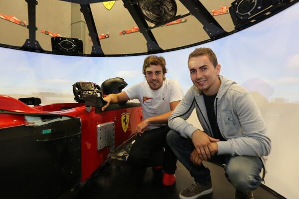 Хорхе Лоренсо посетил штаб-квартиру Ferrari