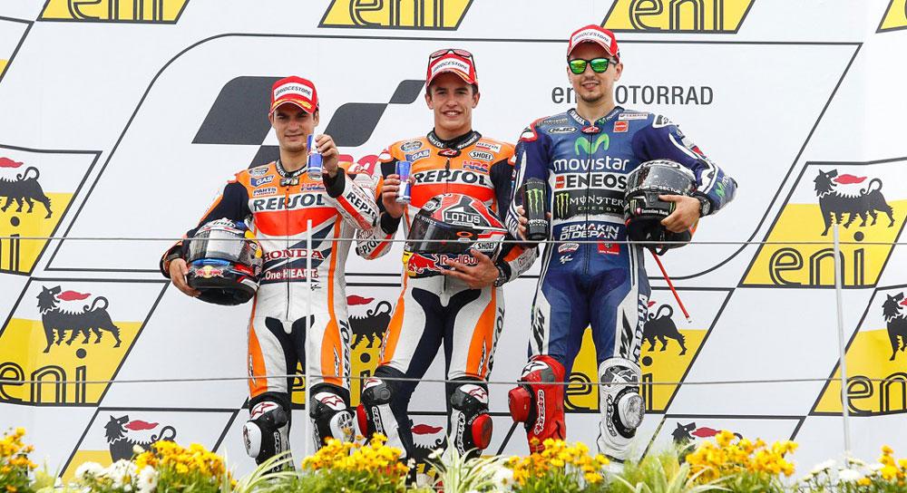Подиум MotoGP Гран-При Германии 2014