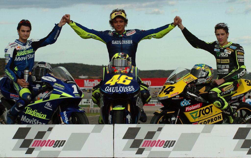 MotoGP 2004 (Педроса, Росси, Довициозо)