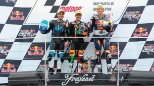 Подиум Moto3 Гран-При Индианаполиса 2014