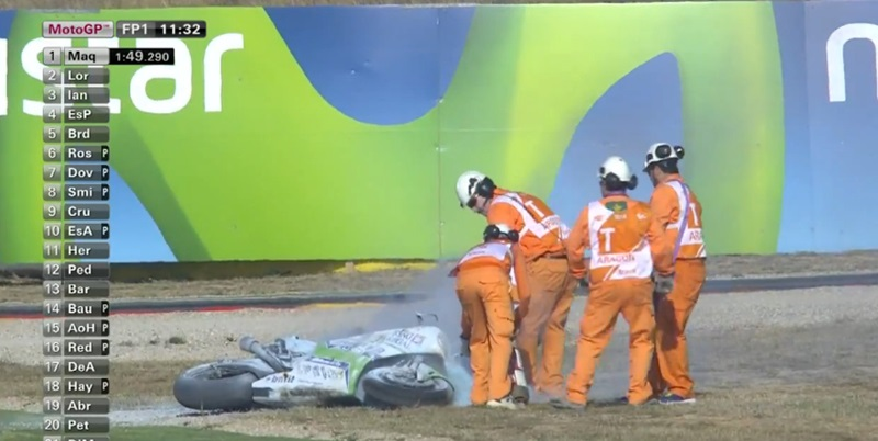 Дебют Avintia на  Desmosedici GP14 закончился пожаром