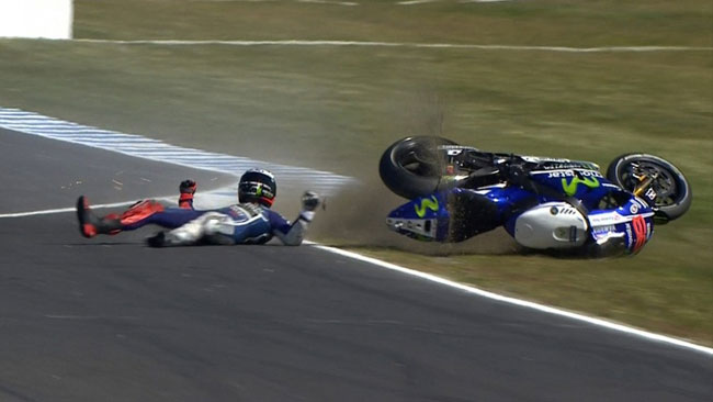 Падение Хорхе Лоренсо, MotoGP 2014