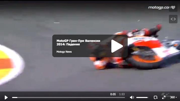 MotoGP Гран-При Валенсии 2014: Падения