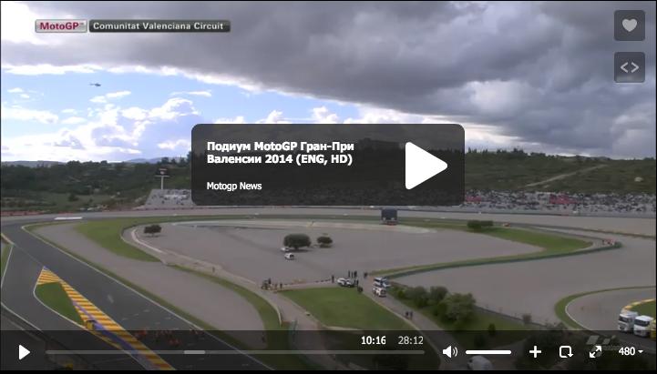 Подиум MotoGPГран-При Валенсии 2014