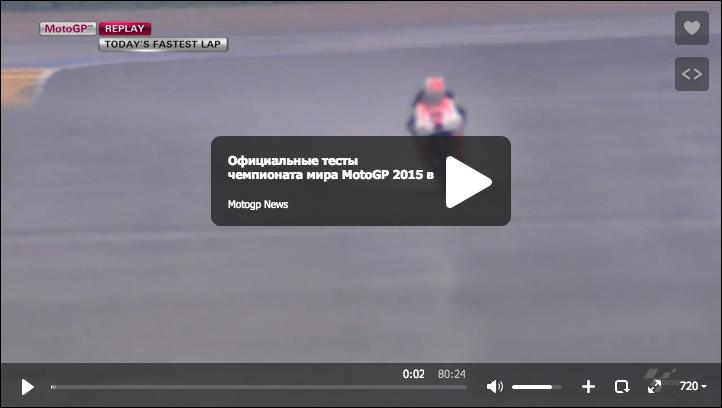 Второй день официальных тестов MotoGP 2015 в Валенсии (Часть 3):