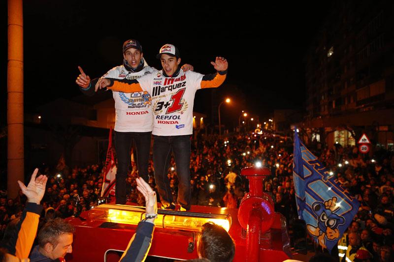 Братья Маркесы отпраздновали свои титулы в родном городе Сервера