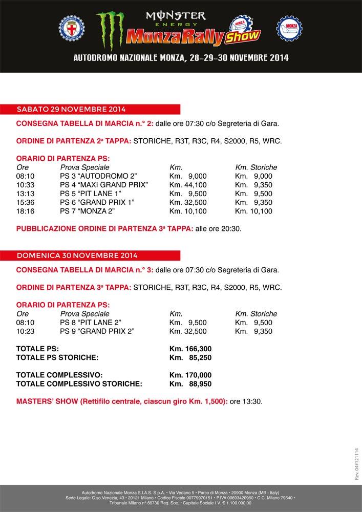 Программа Monza Rally Show