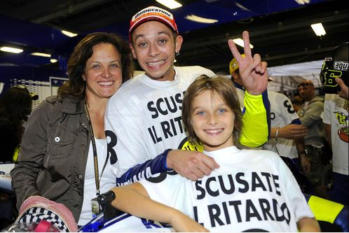 Валентино Росси и его мама Стефани