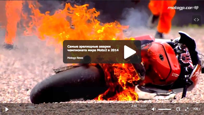 Самые зрелищные аварии чемпионата мира Moto2 в 2014 году