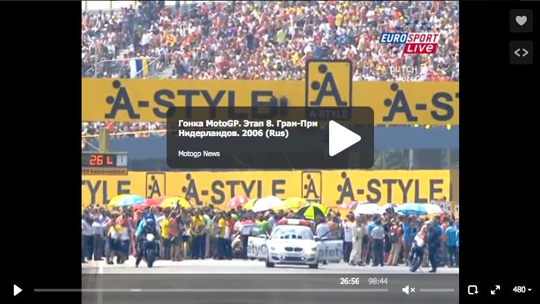 Восьмой этап MotoGP 2006: Гран-При Нидерландов (RUS)