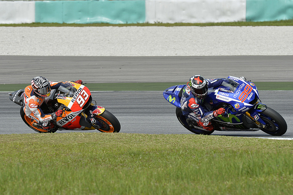Марк Маркес и Хорхе Лоренсо, MotoGP 2015