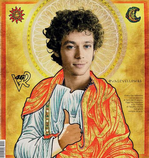 Валентино Росси причислили к лику святых