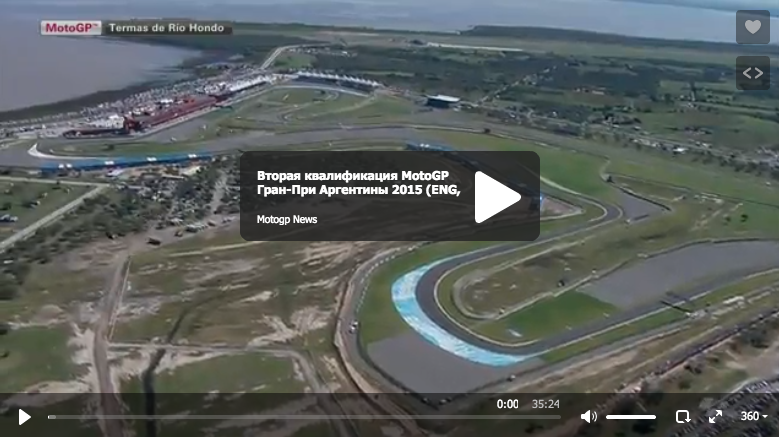 Вторая квалификация MotoGP Гран-При Аргентины 2015 (ENG, HD)
