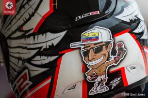 Фотографии шлемов гонщиков чемпионата мира MotoGP