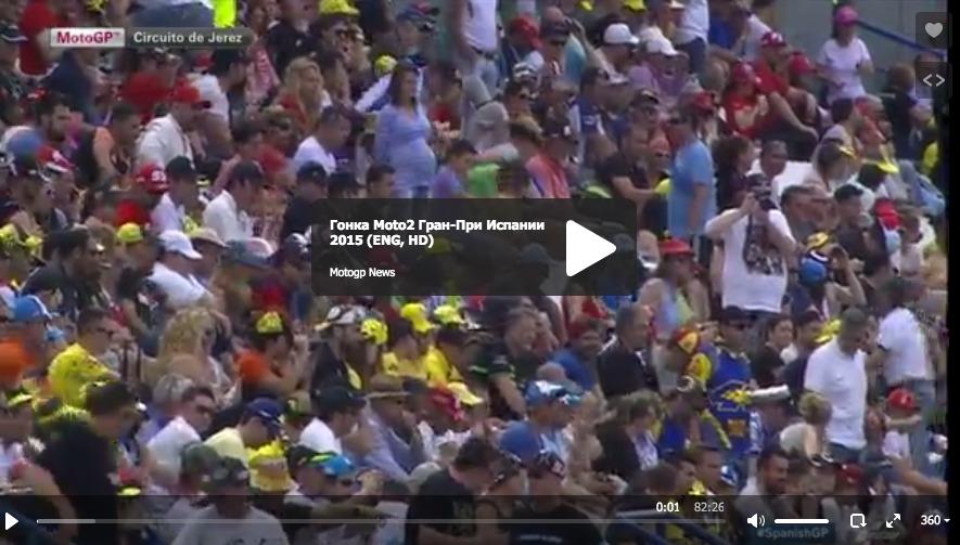 Гонка Moto2 Гран-При Испании 2015 (ENG, HD)