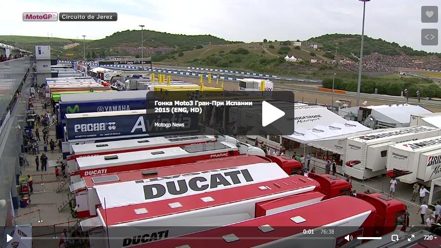 Гонка Moto3 Гран-При Испании 2015 (ENG, HD)