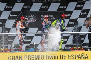 Подиум MotoGP Гран-При Испании 2015