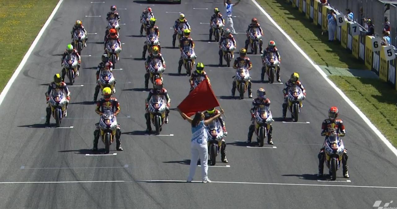 Видео первой гонки Red Bull MotoGP Rookies Cup 2015
