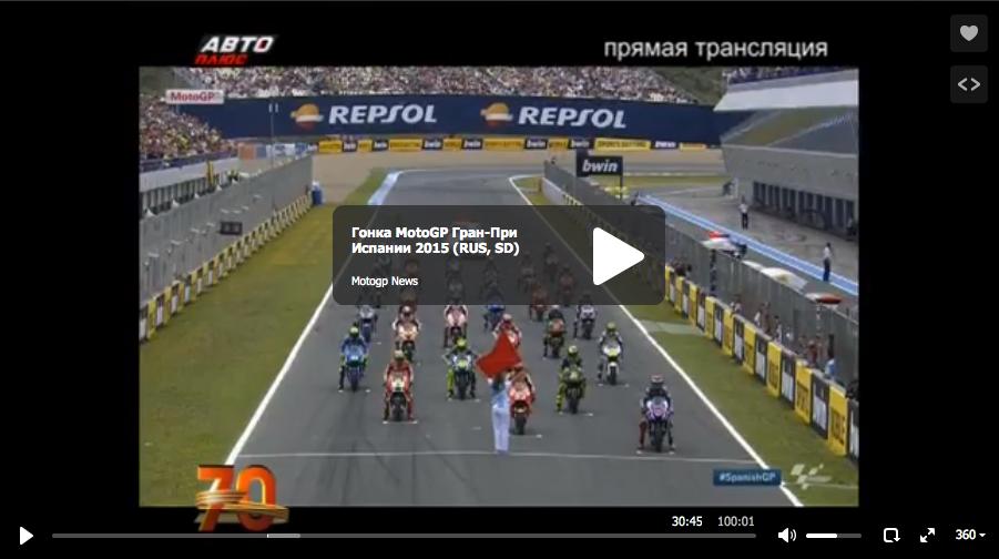 Гонка MotoGP Гран-При Испании 2015 (RUS, SD)