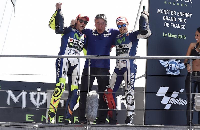 Валентино Росси и Хорхе Лоренсо, Movistar Yamaha MotoGP