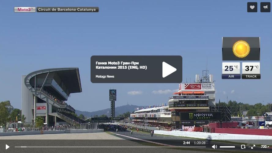 Гонка Moto3 Гран-При Каталонии 2015 (ENG, HD)