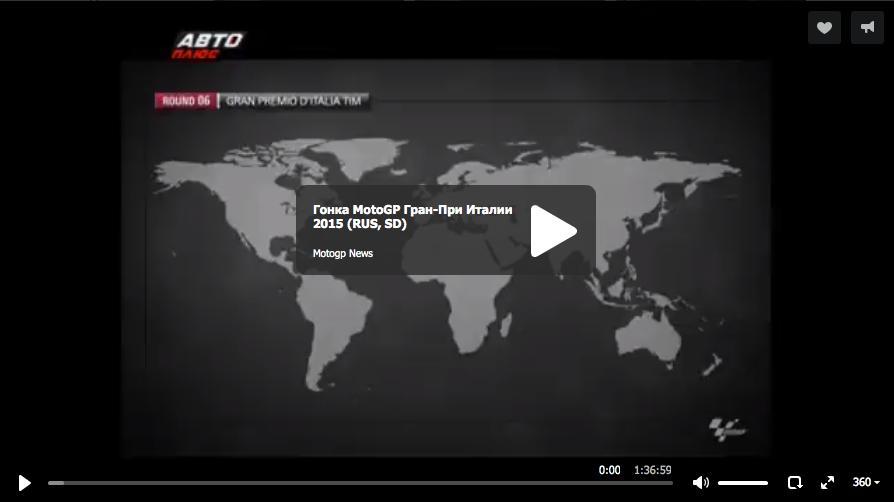 Гонка MotoGP Гран-При Италии 2015 (RUS, SD)