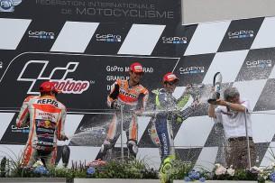 Подиум MotoGP Гран-При Германии 2015