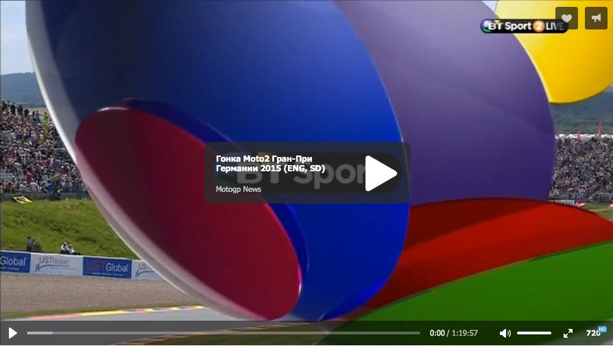 Гонка Moto2 Гран-При Германии 2015 (ENG, SD)