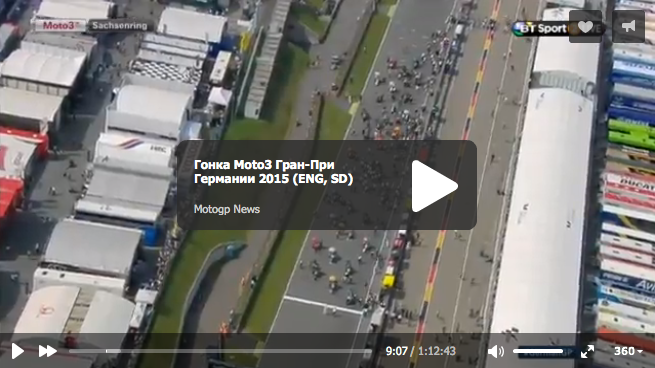 Гонка Moto3 Гран-При Германии 2015 (ENG, SD)