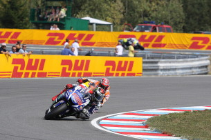 Марк Маркес и Хорхе Лоренцо. Гран-При Чехии, MotoGP 2015