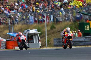 Дани Педроса и Андреа Довициозо, Гран-При Чехии, MotoGP 2015
