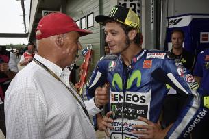 Ники Лауда и Валентино Росси, Гран-При Чехии, MotoGP 2015