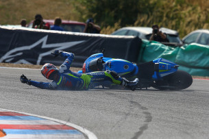Падение Маверика Виньялеса, Гран-При Чехии, MotoGP 2015