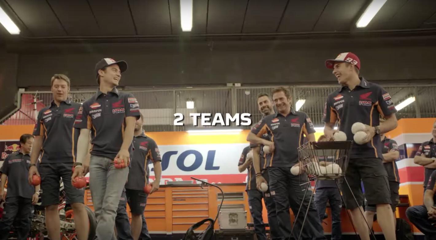 Repsol Challenge: Команда Маркеса vs команды Педросы (видео)