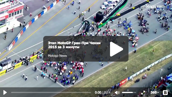 Этап MotoGP Гран-При Чехии 2015 за 3 минуты